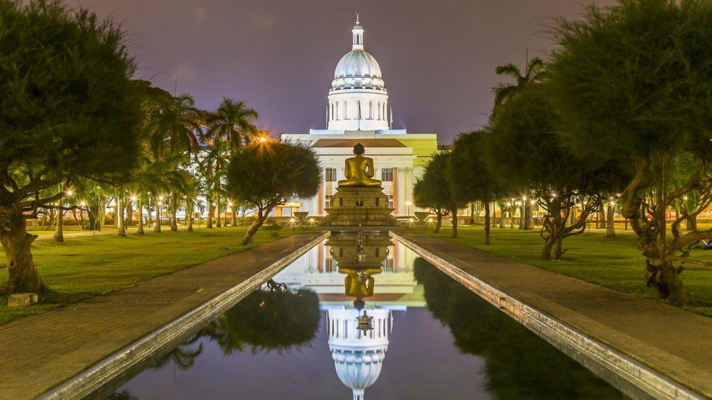 Colombo Town Hall view from Viharamahadevi Park