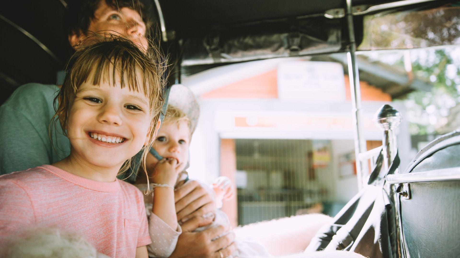 Children enjoying a day excursion