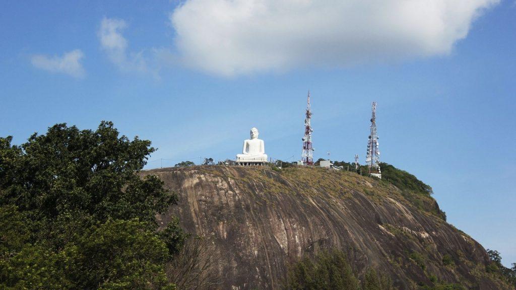 Buddha statue on Athugala (Elephant Rock) Kurunegala