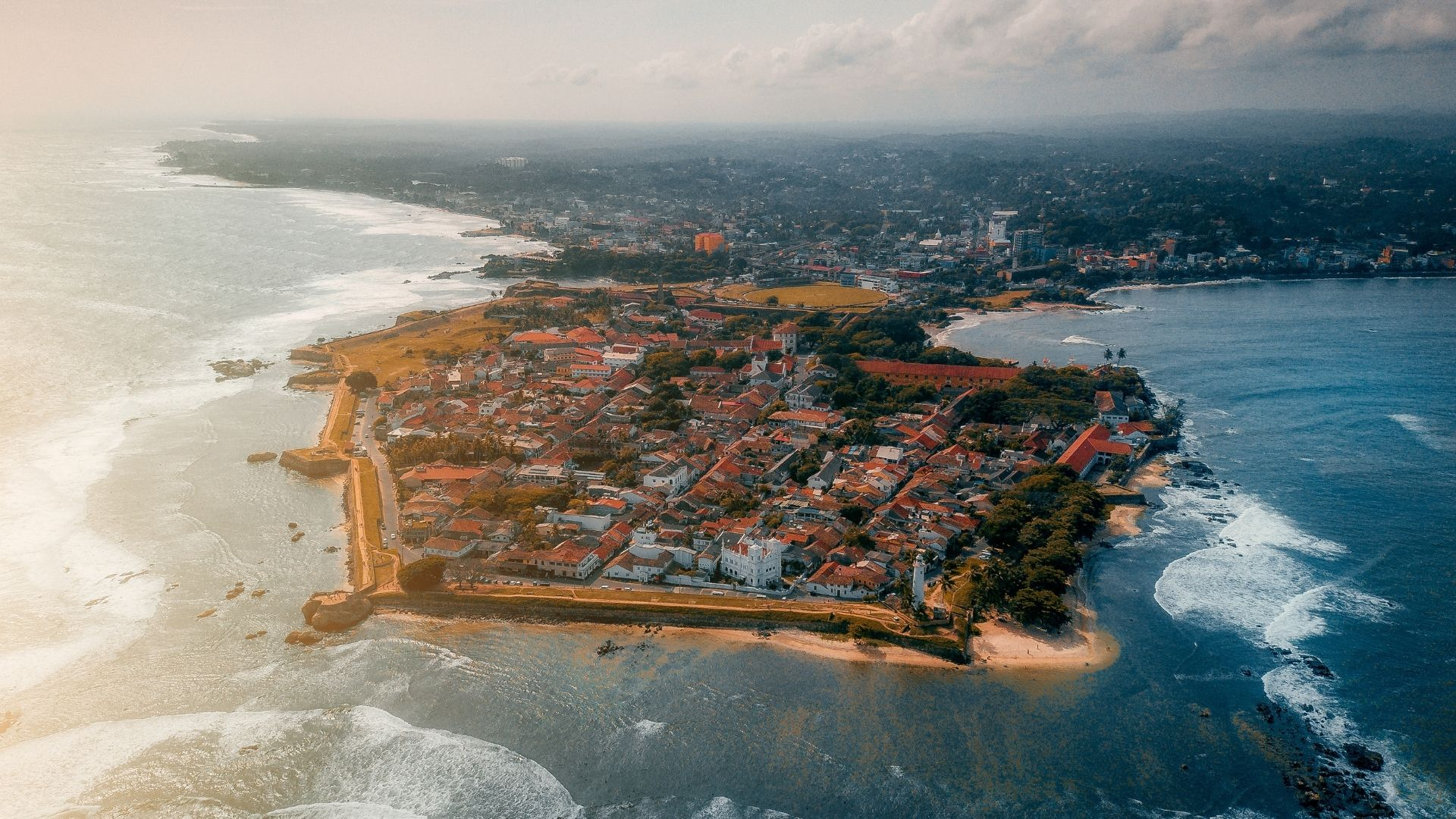 Aerial image of Galle Fort