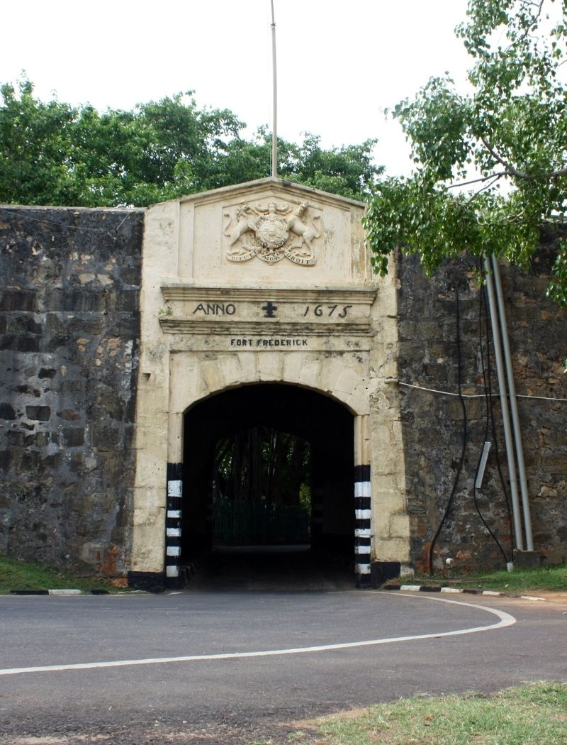 Entrance to the Fort Fredrick in Trincomalee Sri Lanka