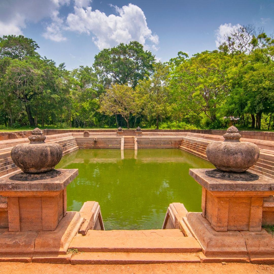 Twin Ponds (Kuttam Pokuna) Anuradhapura Sri Lanka